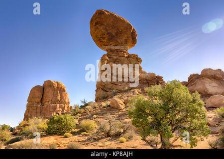 Arches National Park, Sandstone formation, Moab, Utah, USA - Stock Image