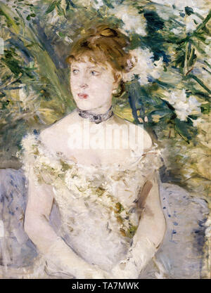 Berthe Morisot, Young Girl in a Ball Gown, portrait painting, 1879 - Stock Image