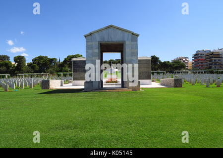 Phaleron War Cemetery, a cemetery maintained by the Commonwealth War Graves Commission in Athens, Greece - Stock Image