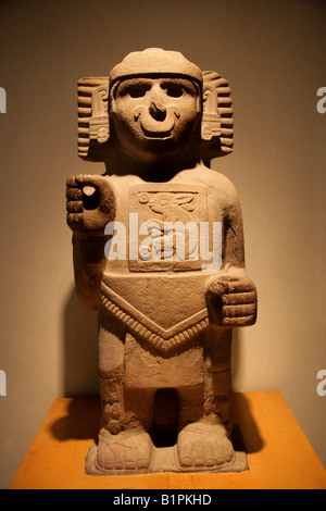 Rabbit God, Pre-Columbian Art from Chicayan, Ozuluama, Veracruz in the National Museum of Anthropology Mexico City. - Stock Image