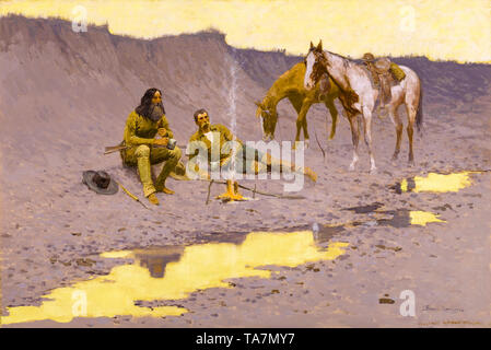 Frederic Remington, A New Year on the Cimarron, painting, 1903 - Stock Image