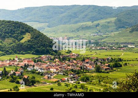 Landscape of Wachau valley, Austria. - Stock Image