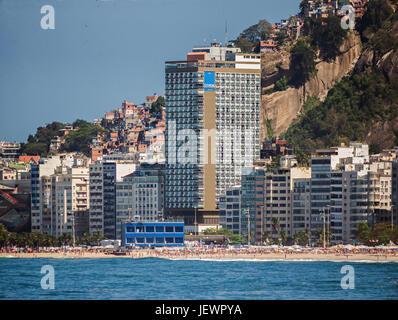 Hotel Rio Othon Palace in Rio de Janeiro - Stock Image