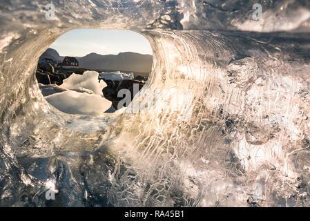 Saqqaq village at Disco Bay in Greenland - Stock Image