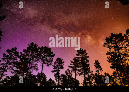 The night sky in Comporta, Portugal - Stock Image