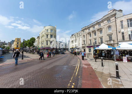 Harold Pl, Havelock Rd and Robertson St at Hastings, East Sussex, England , UK - Stock Image