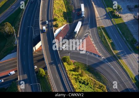 Aerial view of overpass Brisbane Australia - Stock Image