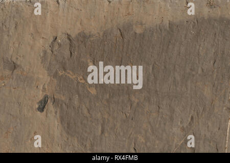 Texture on exterior wall stone cladding panels or tiles. - Stock Image