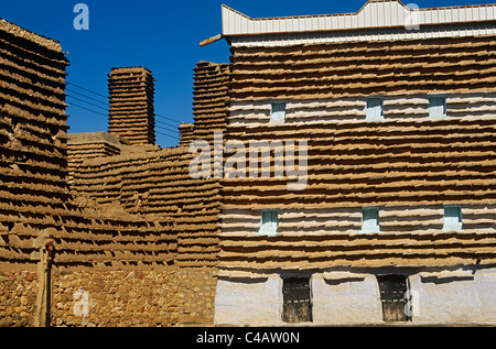 Saudi Arabia, Asir, Al-Alkhalaf. The village of Al-Alkhalaf is among the finest examples of the region's traditional - Stock Image