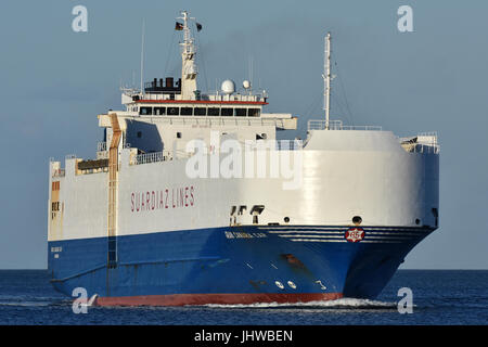 Vehicles Carrier Gran Canaria Car - Stock Image