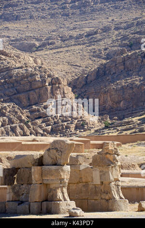 Hall of 100 columns and environs around Persepolis, Iran - Stock Image