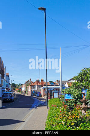 A view of the A149 road passing through the North Norfolk village of East Runton, Norfolk, England, United Kingdom, Europe. - Stock Image