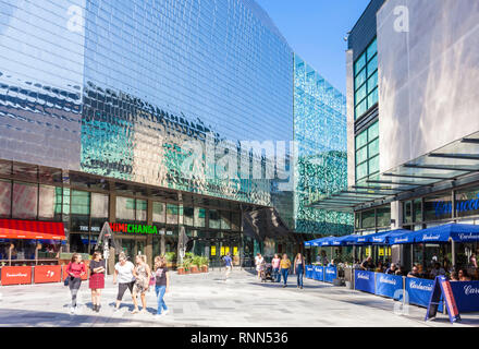 Highcross shopping centre showcase cinema complex and restaurants  Leicester city centre Leicestershire East Midlands  England UK GB Europe - Stock Image