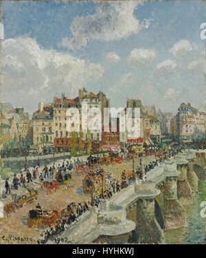 Camille Pissarro   The Pont Neuf   Google Art Project - Stock Image