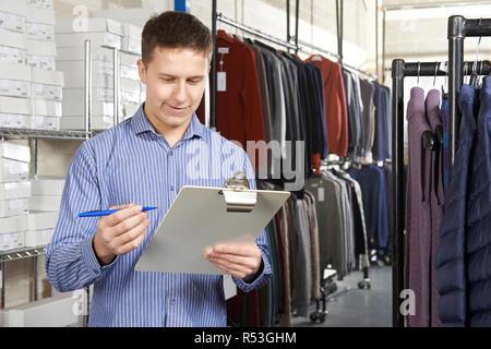 Businessman Running On Line Fashion Business - Stock Image