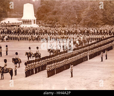 King George VI Trooping the Colour, London - Stock Image