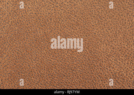 Light brown leather texture background - Stock Image