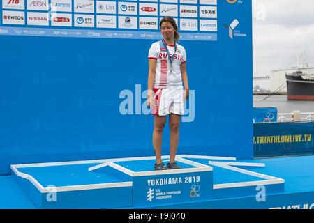 Yokohama, Japan. 18th May, 2019. 2019 ITU World Triathlon, World Paratriathlon Yokohama at Yamashita Park and Minato Mirai, Yokohama. Plotnikova (Photos by Michael Steinebach/AFLO) Credit: Aflo Co. Ltd./Alamy Live News - Stock Image