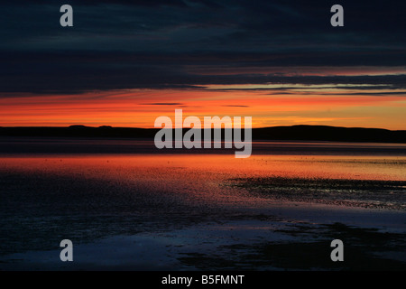 Sunset at Bowmore on the island of Islay - Stock Image