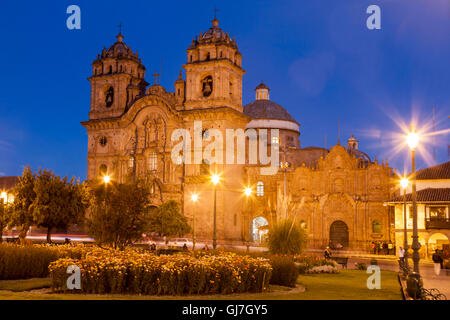 Cathedral Typical Historical Building Cusco, Peru - Stock Image