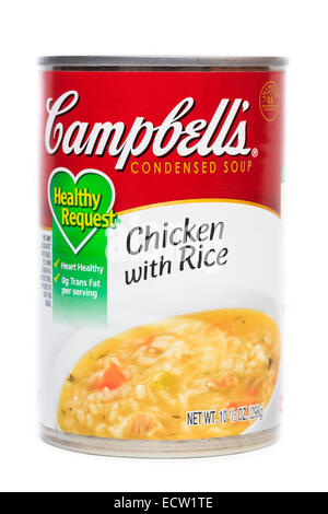Campbell's Chicken with Rice Condensed Soup - Stock Image