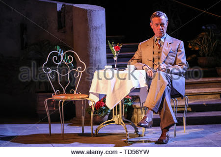 Royal Festival Hall, London, UK, 12th June 2019. Alex Jennings as Italian Signor Naccarelli. Tony Award Winning romantic musical 'The Light in the Piazza' will be making its London premiere at the Royal Festival Hall on Wednesday 12th June and will run 14th June to 5th July. It stars soprano superstar Renée Fleming and Dove Cameron, star of Disney's 'The Descendants', as well as Alex Jennings, Rob Houchen, Celinde Schoenmaker and many others. Credit: Imageplotter/Alamy Live News - Stock Image