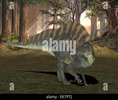 Dinosaurier Ouranosaurus / dinosaur Ouranosaurus - Stock Image