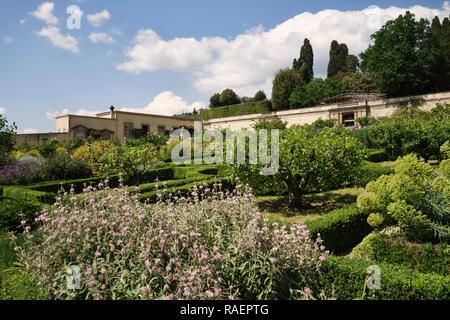 The formal Renaissance gardens of the Medici Villa di Castello (Villa Reale), Sesto Fiorentino, Florence, Italy. - Stock Image