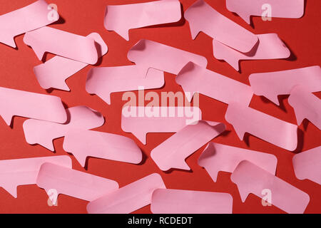 An abstract pattern of speech paper sticky notes - Stock Image