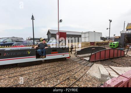 InterCity Locomotive, Hastings Miniature InterCity Railway. Hastings, East Sussex, England , UK - Stock Image