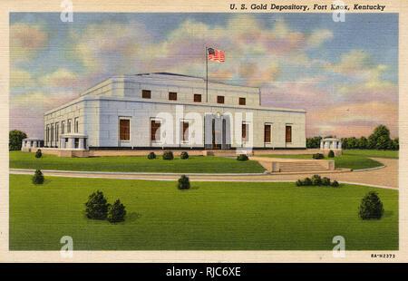 US Gold Bullion Depository at Fort Knox, Kentucky, USA. - Stock Image