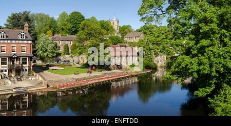 knaresborough and river Nidd - Stock Image