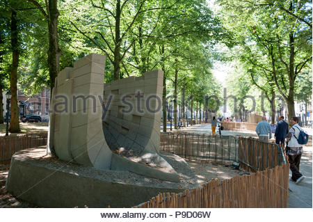 The Hague / Den Haag The Netherlands Sand sculptures on the Lange Voorhout. - Stock Image