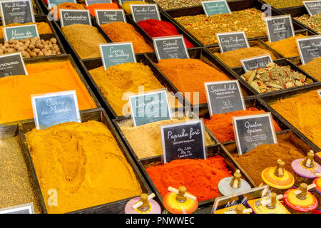 Herbs on a French market, Aix en Provence, France - Stock Image