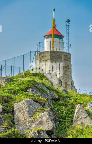Lighthouse On The High Ground, Honningsvag, Norway - Stock Image