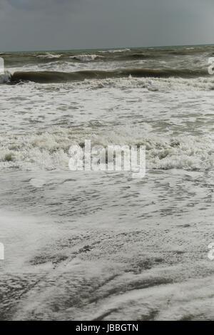 Stormy weather at Torremolinos, Costa del Sol, Spain - Stock Image