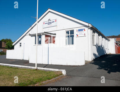 Royal British Legion Club building, Llandrindod Wells, Powys Wales UK - Stock Image