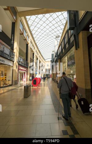Grand Arcade looking towards Lion Yard - Stock Image