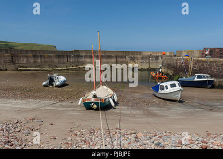The harbour in the village of Pennan, Aberdeenshire, Scotland, UK. - Stock Image