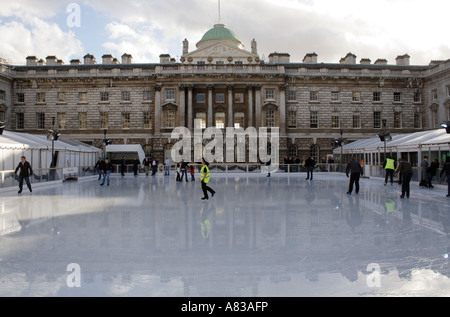 Ice skating at Somerset House London Winter 2006 - Stock Image