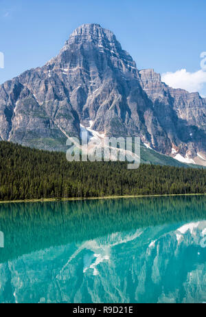 Waterfowl Lakes in Banff National Park - Stock Image