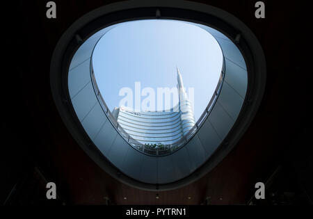 Italy, Lombardy, Milan, Porto Nuova. The UniCredit Tower. - Stock Image