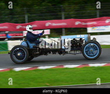 Leslie Murray, De Dion Bouton Curtis OX, Edwardian Cars, VSCC, Formula Vintage, Round 4, Mallory Park, 12th August - Stock Image