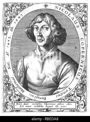 NICOLAUS COPERNICUS (1473-1543) Polish mathematician and astronomer - Stock Image