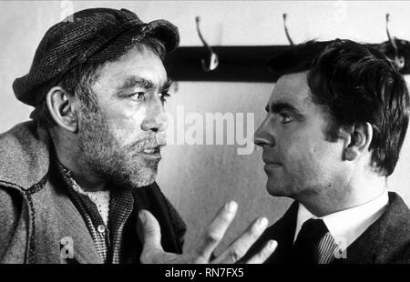 ZORBA THE GREEK, ANTHONY QUINN , ALAN BATES, 1964 - Stock Image