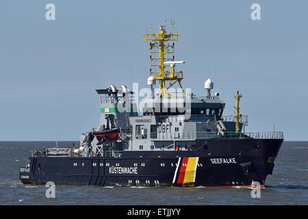 Fisheries Patrol vessel Seefalke - Stock Image