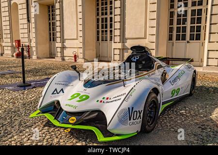 Piedmont Turin - Turin auto show 2019  - Valentino park - Valentino castle -Mastery Design Spice X - Stock Image