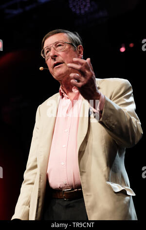 Hay Festival, Hay on Wye, Powys, Wales, UK - Friday 31st May 2019 - Author Max Hastings on stage at the Hay Festival to talk about his book Vietnam - An Epic Tragedy 1945-1975. Photo Steven May / Alamy Live News - Stock Image