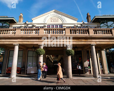 Covent Garden Market London Punch and Judy Terrace Bar - Stock Image