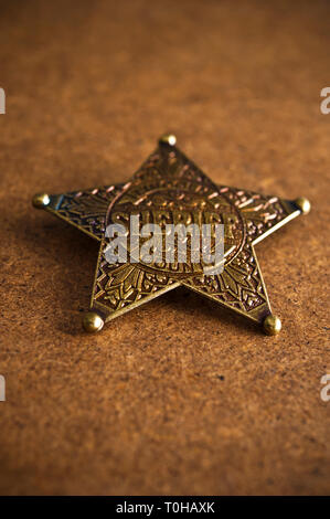 sheriff badge - image for book cover - Stock Image